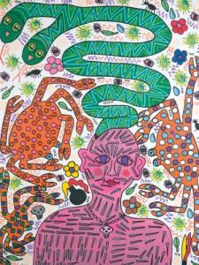 Pam Emmerik, schilderij 5, Tentoonstelling Woordbloed, Museum Schunck, Heerlen, 27 september 2009