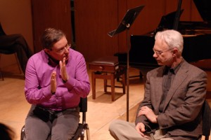 Julian Anderson & John Adams at the Guildhall School of Music and Dram, London
