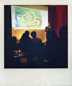 Rozalie Hirs at Poetry Hearings, Berlin, 2 November 2012 (curator: Catherine Hales; photograph: Machiel Spaan)