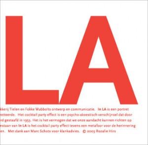 Rozalie Hirs: In LA (Boxtel: Drukkerij Tielen, 2003; sleeve design: FokkeWubbolts)