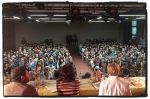 Rozalie Hirs reading, Poetry on the Road, Kippenberg Gymnasium, Bremen, 10 June 2013