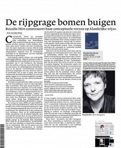 Recensie van 'gestamelde werken' door Arie van den Berg in NRC 4 januari 2013