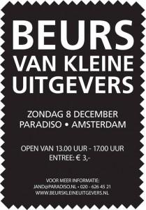 Poster Beurs van Kleine Uitgevers, Amsterdam, 2013 (met Studio 3005 van Marc Vleugels, uitgever van de bibliofile bundel 'Curvices and Musicles' door Rozalie Hirs)