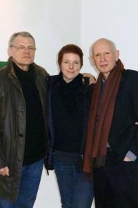 Valeri Schertjanoi, Jonathan Seville Bragdon, and Rozalie Hirs, 24 January 2014, Kassel, Germany (photograph: ©2014 Gesa Esterer)
